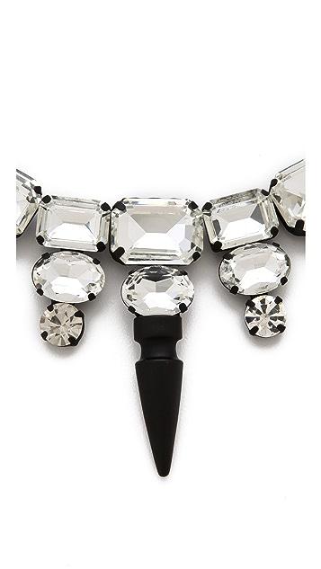 Noir Jewelry Nightfall Crystal Bib Necklace