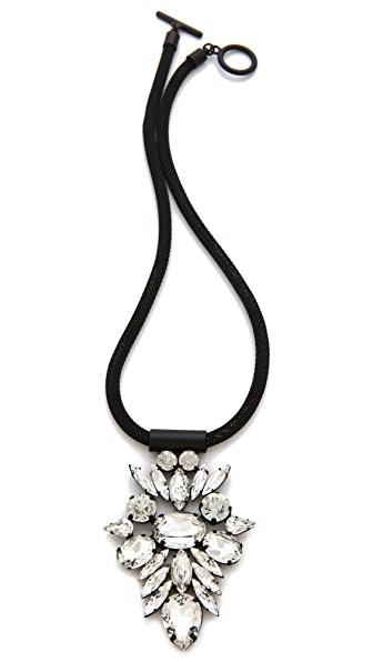 Noir Jewelry Nightfall Crystal Pendant Necklace