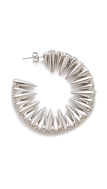 Noir Jewelry Mini Punks Hoop Earrings