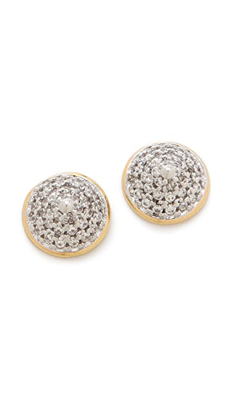 Noir Jewelry Classic Round Pave Stud Earrings