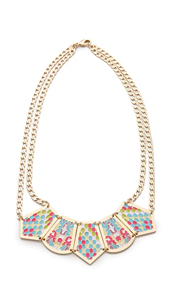 Noir Jewelry Short Pastel Hacienda Necklace