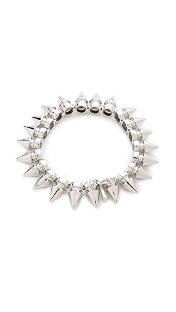 Noir Jewelry Metal Mix Tree Spike Bracelet