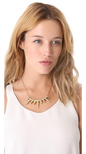 Noir Jewelry Metal Mix Triple Spikes Necklace