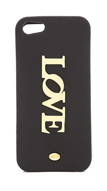 Noir Jewelry Love iPhone 5 Case