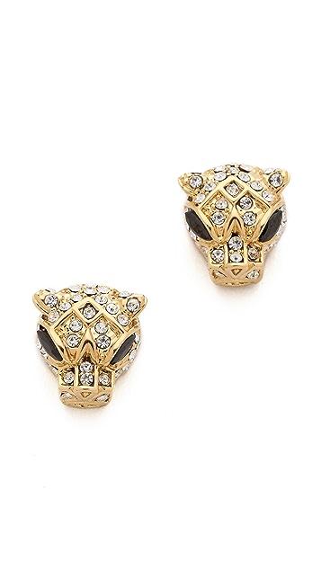 Noir Jewelry Jaguar Stud Earrings