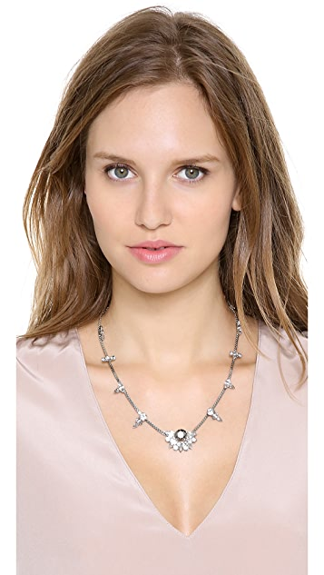 Noir Jewelry Spaced Crystal Necklace