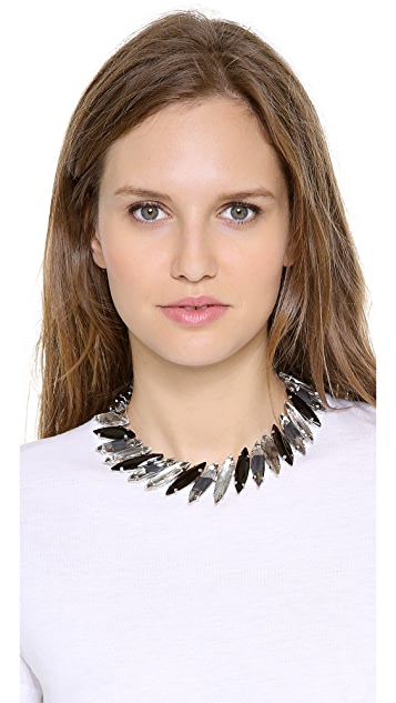 Noir Jewelry Multicolored Crystal Necklace