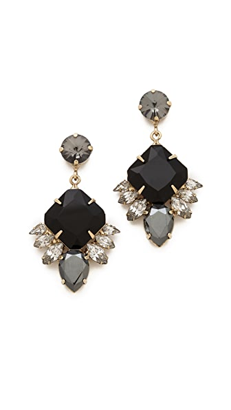 Noir Jewelry Small Crystal Drop Earrings