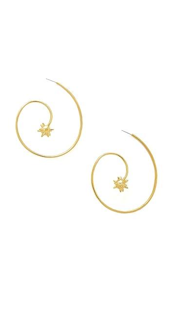 Noir Jewelry Spiral Earrings