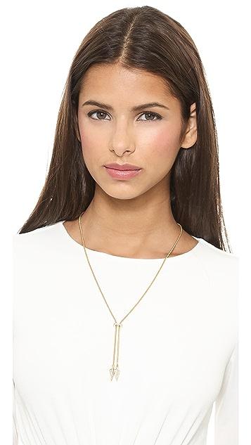 Noir Jewelry Crystal Arrow Necklace