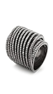Noir Jewelry Crystal Spiral Ring