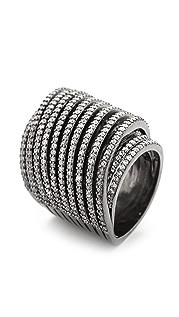 Noir Jewelry 水晶涡纹戒指