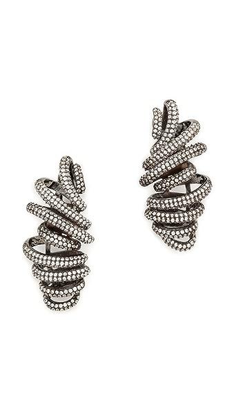 Noir Jewelry Crystal Snaked Earrings
