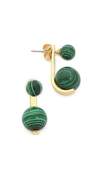 Noir Jewelry Sphere Front to Back Earrings