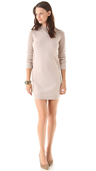 Misha Nonoo Mesh Knit Sleeve Dress