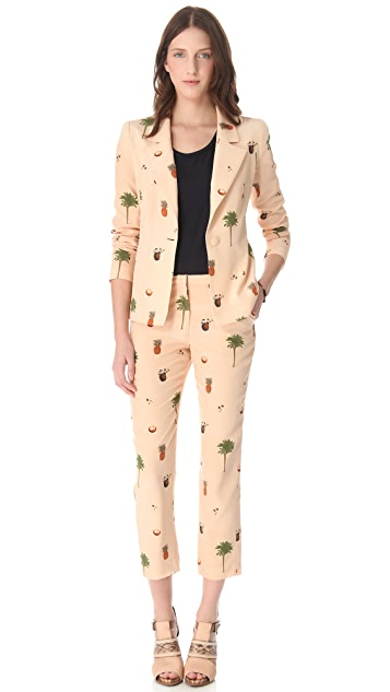 Misha Nonoo Botanical Print Jacket
