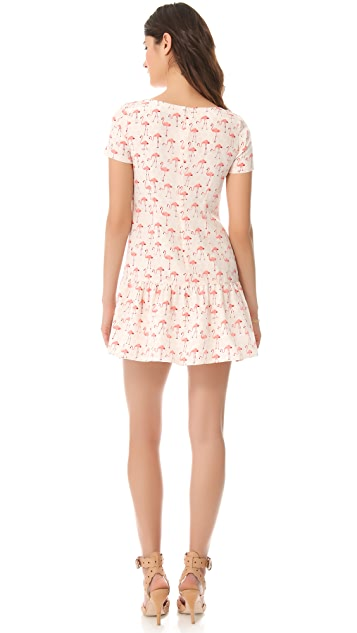 Misha Nonoo Monica Flamingo Dress