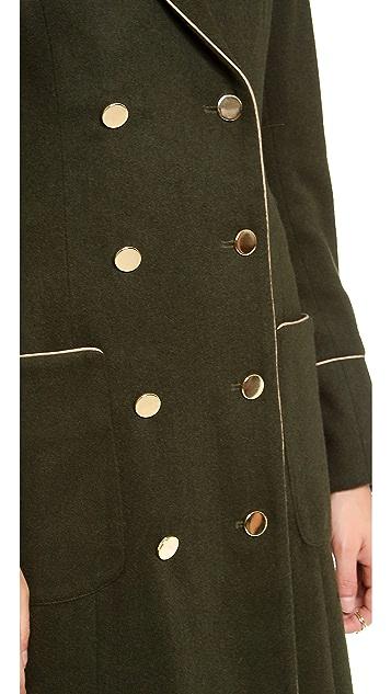 Misha Nonoo Long Coat with Piping
