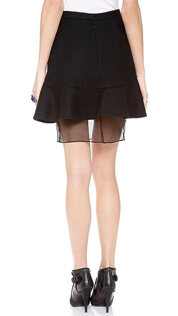 Misha Nonoo Organza Hem Flare Skirt