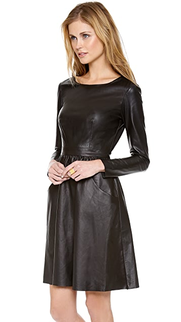 Misha Nonoo Leather Dress