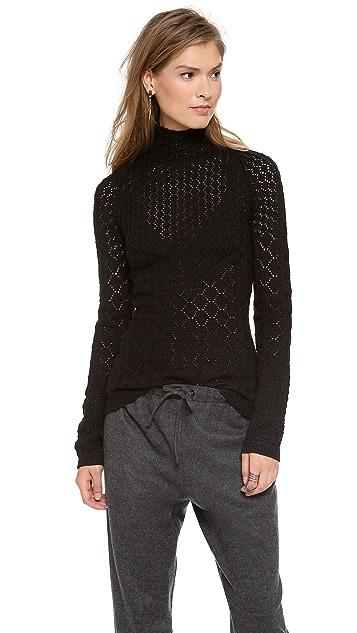 Misha Nonoo Button Collar Sweater