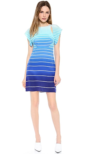 Misha Nonoo Hanna Open Back Stripe Dress