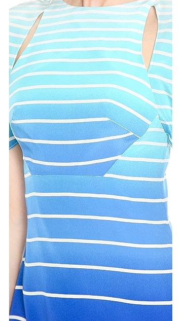 Misha Nonoo Hanna Open Back Stripe Dress