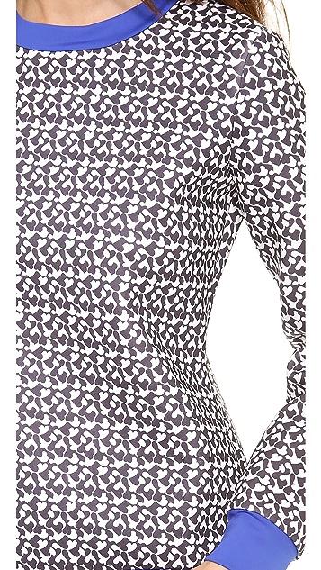 Misha Nonoo Terry Heart Print Neoprene Top