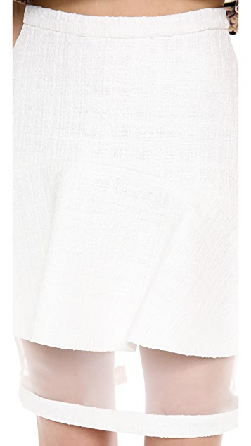 Misha Nonoo Martha Tweed Flounce Skirt