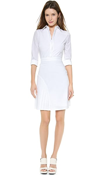 Misha Nonoo Pleated Shirtdress