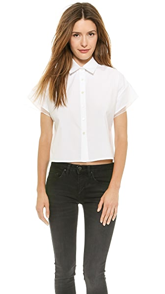 Misha Nonoo Oxford Top with Back Pleat
