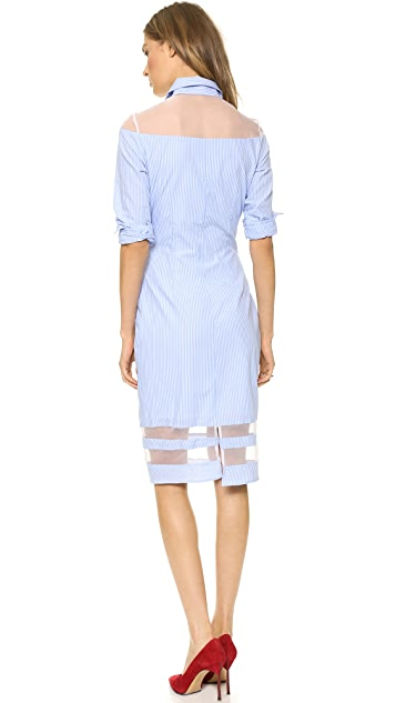 Misha Nonoo Shirtdress with Organza Panels