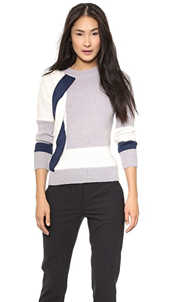 Misha Nonoo Braid Side Detail Sweater