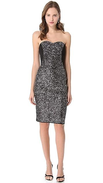 Marchesa Notte Sequin Corset Dress