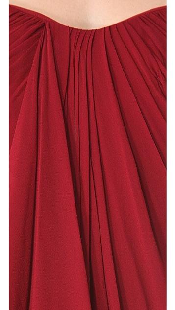 Marchesa Notte Grecian Chiffon Gown
