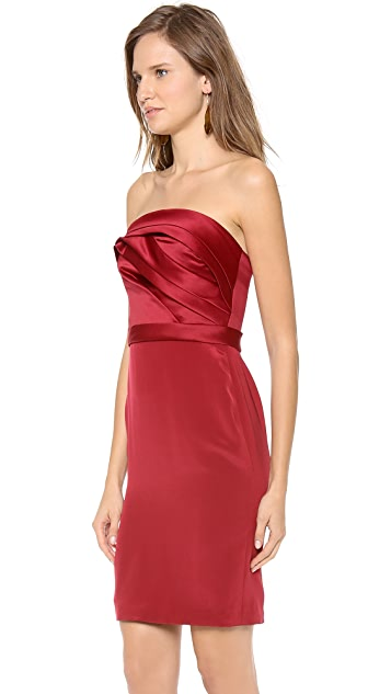 Marchesa Notte Strapless Cocktail Dress