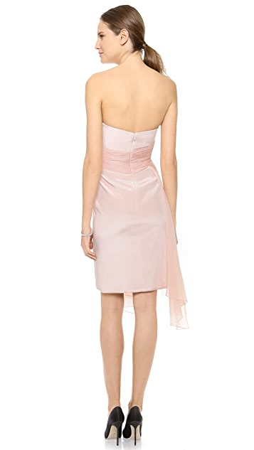 Marchesa Notte Swathed Strapless Dress