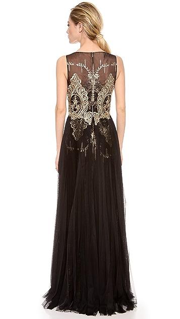Marchesa Notte Sleeveless Gown