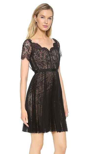 Marchesa Notte Lace Cocktail Dress