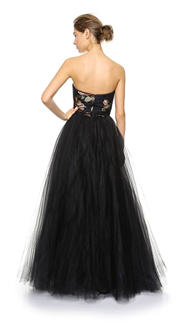 Marchesa Notte Strapless Ball Gown