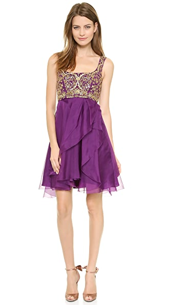 Marchesa Notte Silk Organza Cocktail Dress