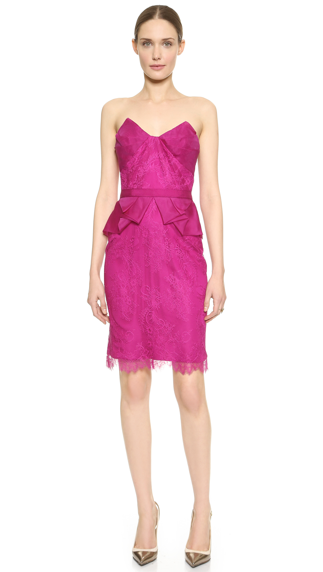 Marchesa Notte Strapless Cocktail Dress  SHOPBOP