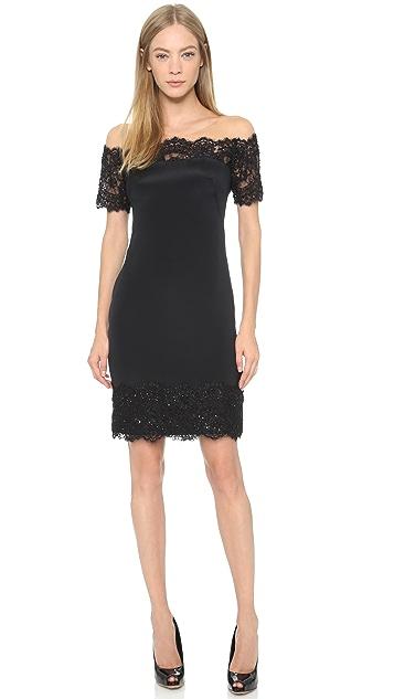 Marchesa Notte Lace Edge Dress
