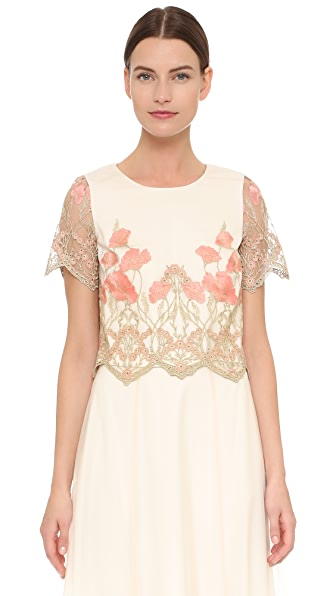 Marchesa Notte Crop Top