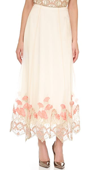 Marchesa Notte Embroidered Skirt