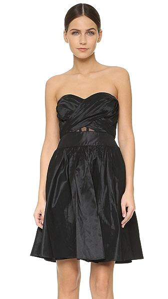 Marchesa Notte Strapless Cocktail Dress