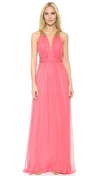 Marchesa Notte Plunge Gown
