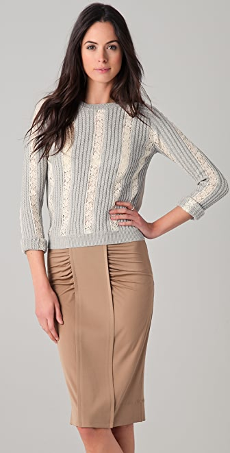 No. 21 Lace Stripe Sweater