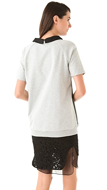 No. 21 Print Front Tee with Collar