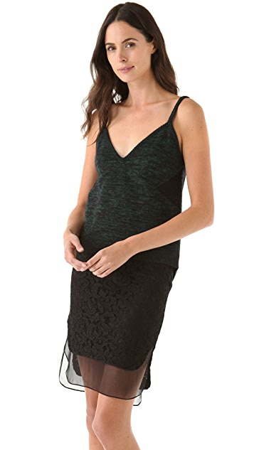 No. 21 Marled Knit Tank with Lace